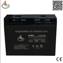 2V 1000ah Rechargeable Gel VRLA Mf AGM Lead Acid Battery
