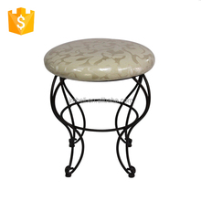 round upholstered steel legs living room footstool/frame unique foot stool