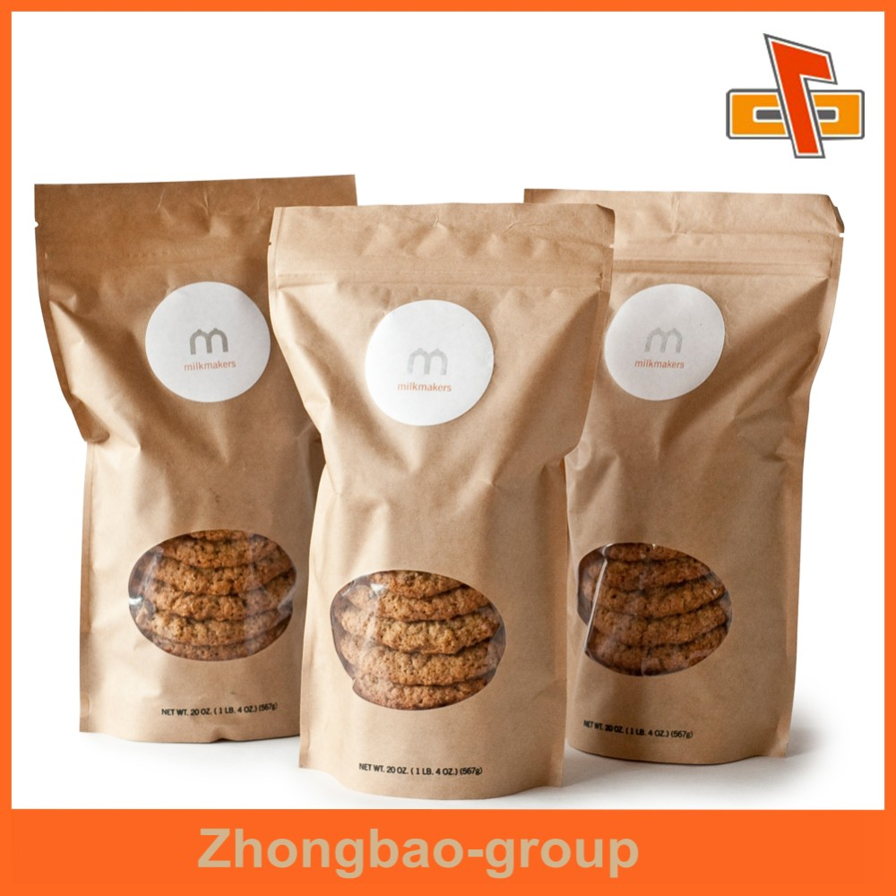 Zhongbao bags standup pouches plastic packets food packaging bag custom printed zip lock bag