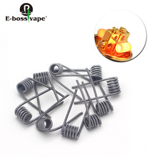 E-bossvape Premade Coils 10pcs DTY Prebuilt coils Kernel 26 GA Heating Wire Wrapped 32GA for Clapton Coil 0.58ohm Wire
