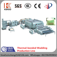 2015 China QINGDAO KAISHUO brand non-woven machine thermal-bonded wadding production line