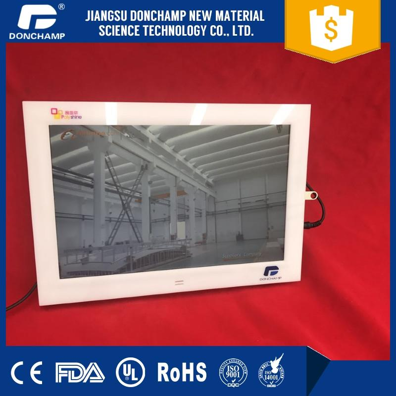 High-grade LED advertising player motion sensor photo frame with video loop