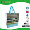 Customized laminated non woven shopping bag with matt film