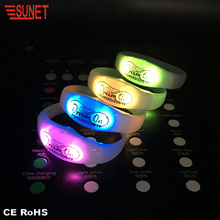 SJ-B16 New Products Custom Programmable Remote Controlled Flashing Led Silicone Bracelet, Radio Control Rfid Light Up Wristband