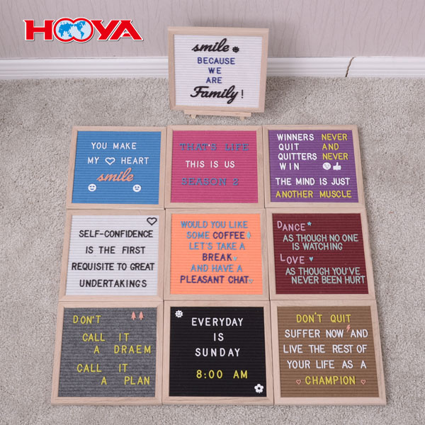 10x10 oak felt letter board with 290 plastic letters hot sale product in Amazon