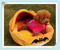 Winter soft pumpkin shape cute funny dog beds