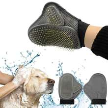 Pet Desheding Tool Dog Cat Brush Glove Gentle Grooming Mitt Pet Bath Brushes