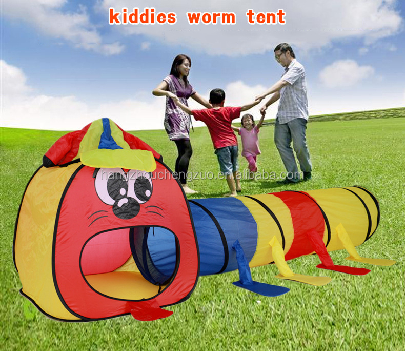 Hot Selling Colorful Outdoor Kiddies Worm Tent,park tent,CZQ-005 Children's house game tent,Cartoon tent,Kids Folding Tent