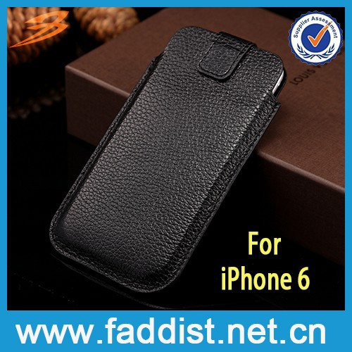 cow leather case for iphone 6 belt clip case