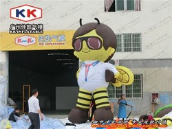 customized popular tall inflatable cartoon character for advertising inflatable Bee Boy / advertising equipment