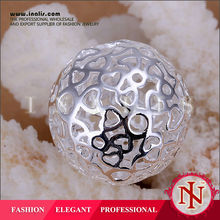 Wholesale big ball perfume silver plated jewelry made in korea P009