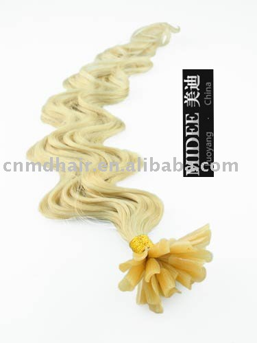 26 inch curly U-tip/nail-tip hair extension