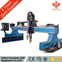 Gantry type fine plasma and flame cutting machine with dust collection