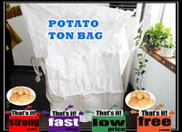 100% pp woven potato mesh ton bag, vented super sacks with low manufacturer price