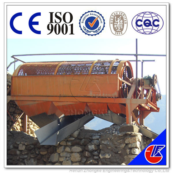 Small trommel for gold mining and gold washing plant
