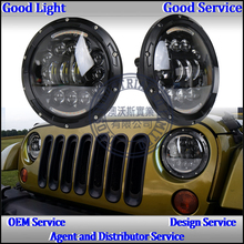 auto parts guangzhouRound 7 inch 60w high low beam led car headlight for J-eep wrangler JK in auto parts