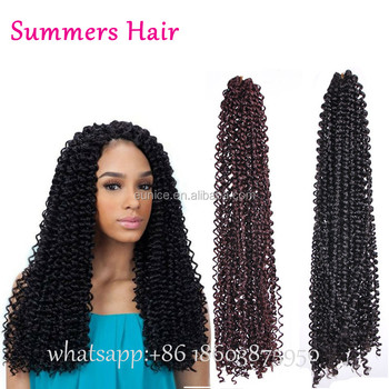 Water Wave Crochet Latch Hook Braids Hair 18 Freetress Crochet Braiding Hair Curly Hair Weaves Freetress Curly Crochet Hair View Freetress Crochet