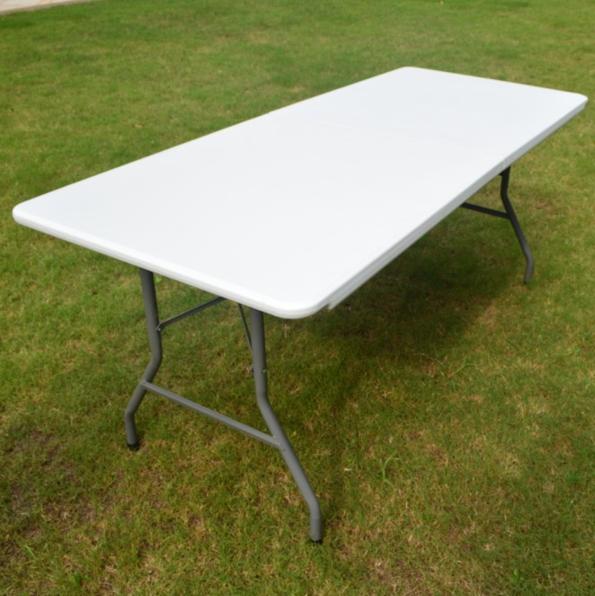 wholesale outdoor 6FT rectangle white plastic folding table china suppliers