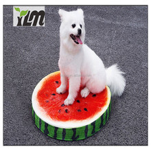 High Quality Hot Selling Fruit Shaped Round Memory Foam Dog Bed Mat Pet Cushion