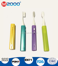 New travel toothbrush with cover and retractable