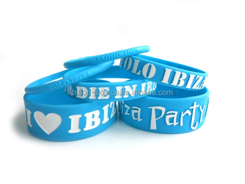Silicone rubber college team bracelets with sayings