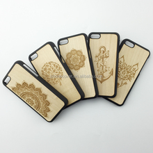 Newest arrival wood cell phone case, bamboo wood case for iphone 6 PC Material