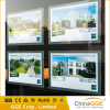 New style double side magnetic crystal acrylic real estate led window display custom led light box poster holder