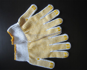 working gloves china manufacturer with PVC dots