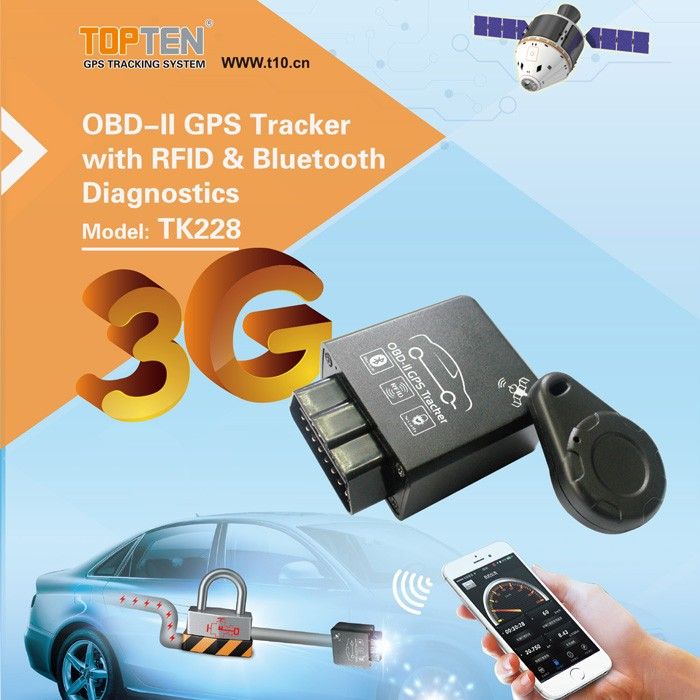 Bluetooth 3G Car Alarm with Realtime GPS Tracking, OBDll Plug-and-Play