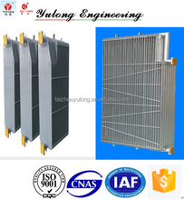 Power transformer and reactor use finned radiator