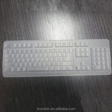 Dustproof Waterproof Function Liquid Silicone Material Transparent Protective Keyboard Cover With Custom Printins