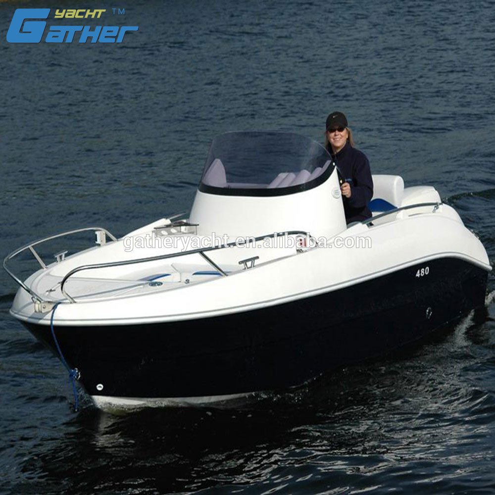 Gather Sport hot sale 16ft high speed motor boat with outboard engine