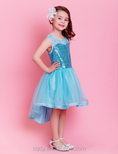 Wholesale Sunshine Love Design Printing Bowknot Is Princess Dress For Kids