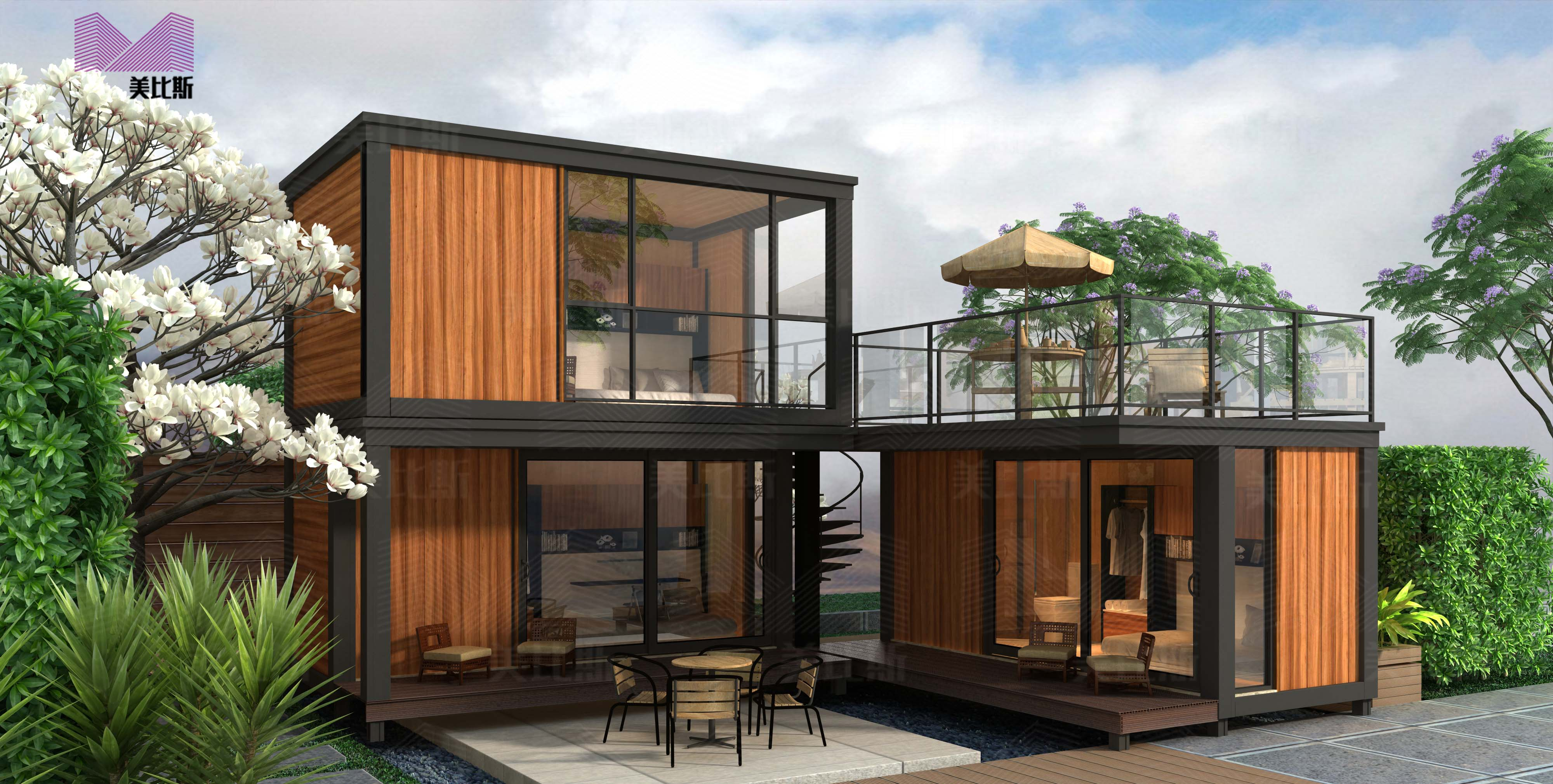 beautiful prefab container homes european style china container house