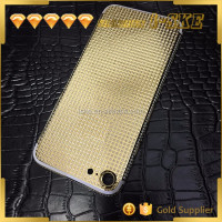 2017 new arrivals mirror 24ct gold plating for iphone 7 luxury gold housing
