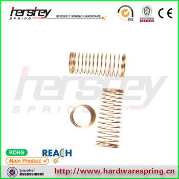 high quality gold plated small compression springs for mobile motor