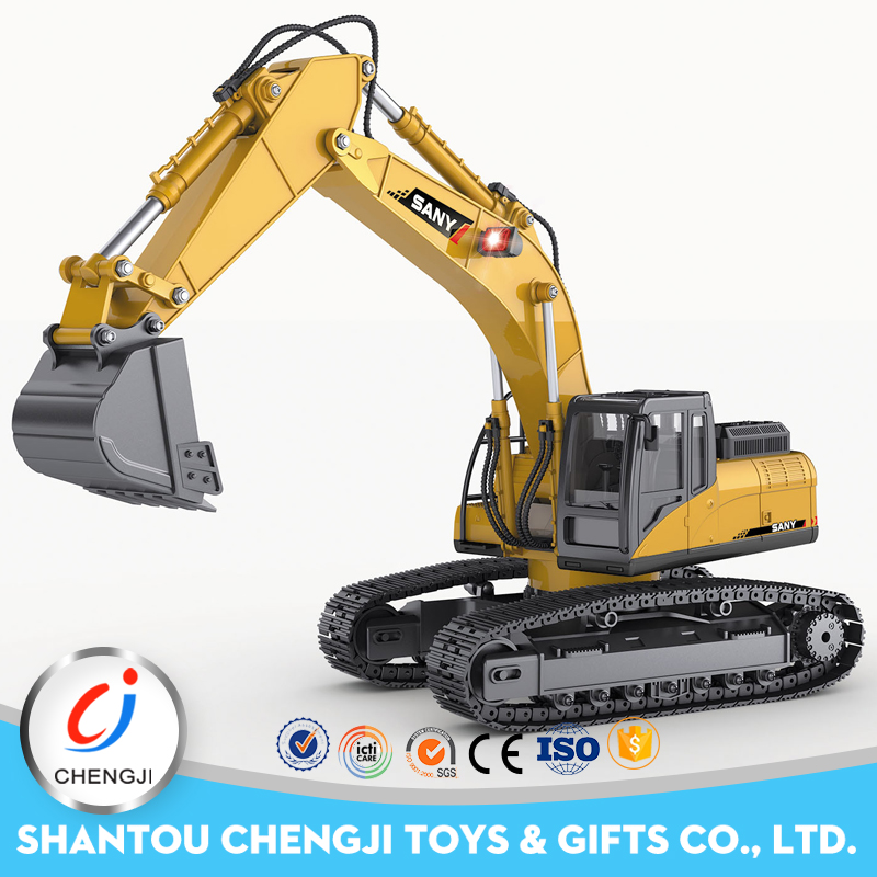 1:14 engineering car 15channel construction metal rc excavator