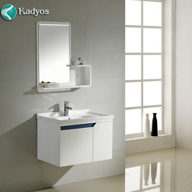 Modern free standing wall cabinet wood bathroom mirror and cabinet