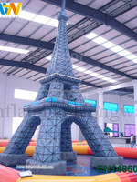 Hot sale custom inflatable advertising for tower,pagoda inflatable advertising character shape/ advertising model