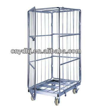 Storage Folding Roll Logistics Push Trolley Container Cart