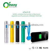 Variable voltage, Power Bank, Multi USB charge eTech III can be a power bank e cigarette k1000 e cigarette cloutank m3