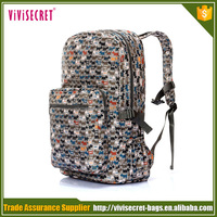 Nylon waterproof fashion dog print college backpacks wholesale