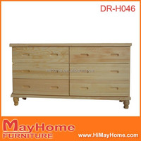 without knots clear nature 6 big storage used chest of drawers / cabinet