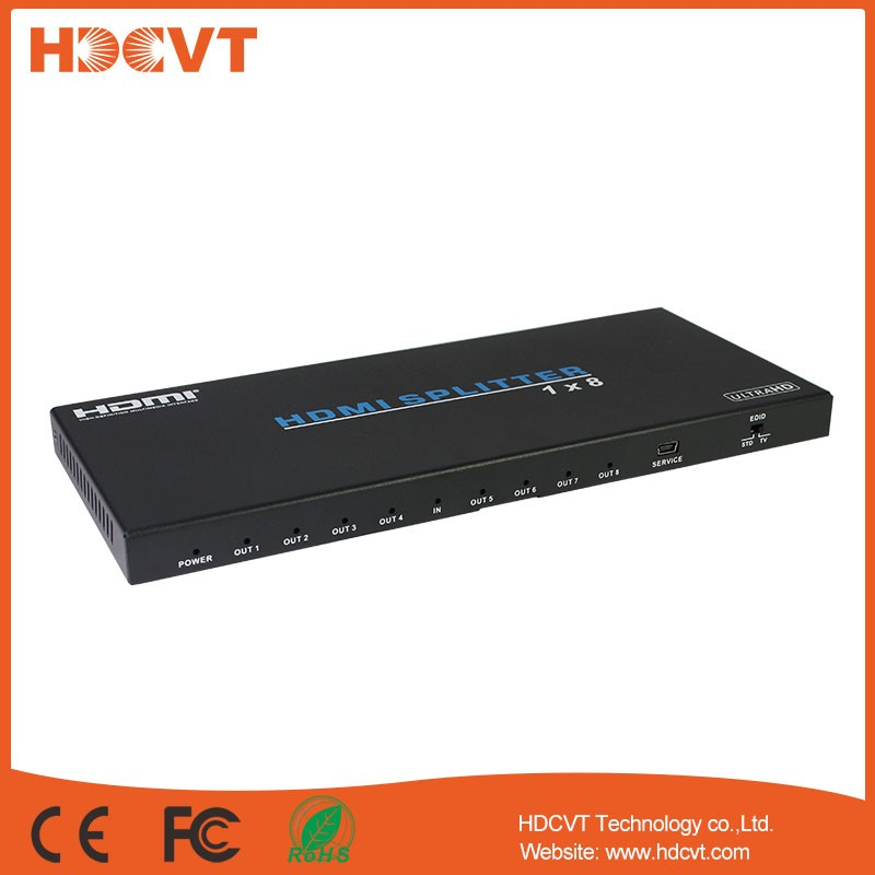 18G HDMI 2.0 Splitter 1 in 8 out