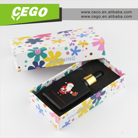 New design OEM Gift packaging 30ml square glass dropper bottle cosmetics french glass dripper bottle