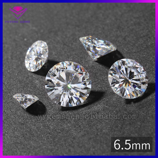 Free Shipping round cut polished 6.5mm 1ct VVS2 and <strong>G</strong> color moissanite