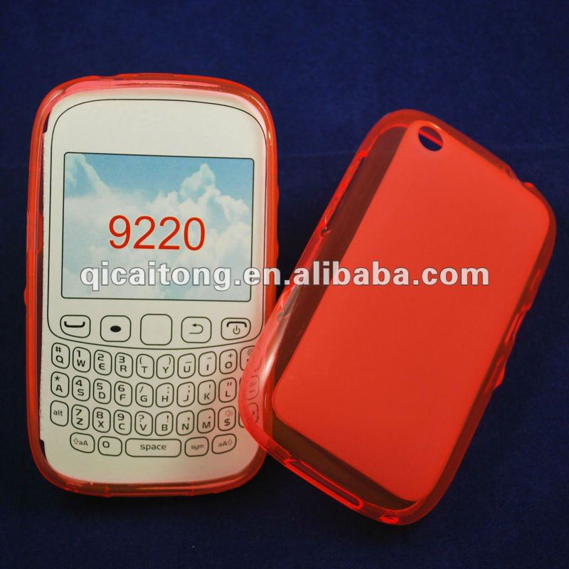 mobilephone tpu puding case for blackberry 9220 curve