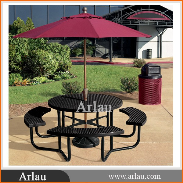 Garden Picnic Table Bench with Umbrella