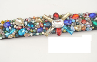 Fashion colorful rhinestone and beads dressing ladies dressing belt