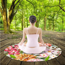 wholesale High quality eco friendly full colour 125*125*0.35cm round yoga mat custom circle rubber yoga mat